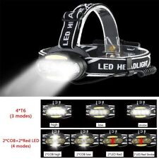 Headlight 30000 Lumen Headlamp Led Head Lamp Flashlight Torch Batteries Charger