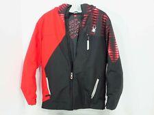 Spyder Ambush Youth Jacket Winter Ski Coat Red/Black Hooded Boys Size XL 18