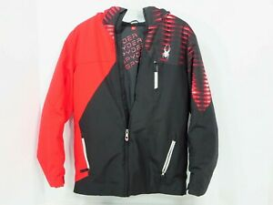 Spyder Ambush Jacket Youth Size XL 18  Winter Ski Coat Red/Black Hooded Boys
