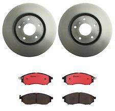 Front Vented Disc Brake Rotors & Pad Set Kit Brembo for Infiniti EX35 Q70 Q40