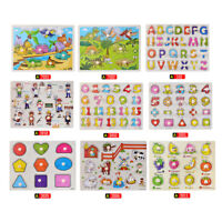 Wooden 3D Arabic Alphabet Puzzle Board Learning Educational Toy Baby Kids Toy G