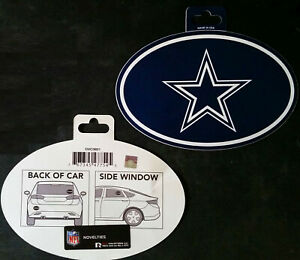 """DALLAS COWBOYS Oval Sticker 6""""X4"""" Great For Windows, Cars, ETC - Offical NFL"""
