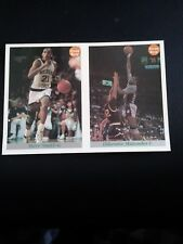 2- 1992 FRONT ROW UNCUT PROMO CARD LOT DIKEMBE MUTOMBO STEVE SMITH BASKETBALL