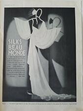 1931 Silks Beau Monde womens vintage fashion clothing art deco ad