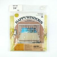 Vintage 70s 80s Happy Windows Tier Curtains 60 x 24 Nostalgia Fortrel Sealed