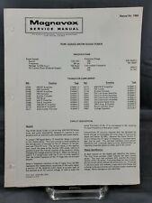 Magnavox Repair Service Parts Manual For 1970 R240 Series AM-FM Radio Tuner