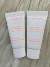 2 pc ~ Peach & Lily Glass Skin Refining Serum Travel Size Sample 5mL/0.16oz Each