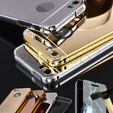 Coque Housse etui iphone bumper miroir iphone 5 5S 6 6S 7 7 PLUS + verre trempe
