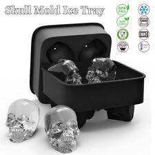 Halloween Silicone Bac à Glaçon Crâne Moule Chocolat Glace Gelée Ice Tray Cube