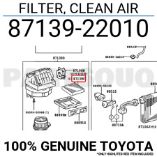 88899-12340 COVER 8889912340 Genuine Toyota PLATE FOR AIR FILTER