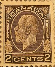 CANADA STAMP 2 CENTS KING GEORGE V BROWN