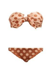 ZIMMERMANN Primrose Polka Dot-Print Bikini Sz 0(AUD 8)-RPR $245