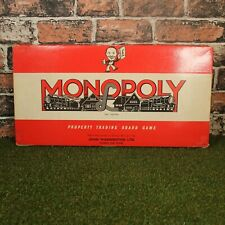 Vintage 1950s Waddingtons Monopoly Board Game (Wooden Houses & Hotels)