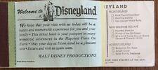 1970s Disneyland Ticket Book - as seen in the first four photos Superb Disneyana
