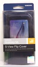 Genuine Samsung S-View Flip Cover for Samsung Galaxy S6 - Black Sapphire