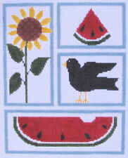 Country Sampler Hand Painted Needlepoint Canvas