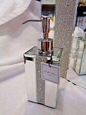 BELLA LUX  Mirror Rhinestone Crystal Soap/Lotion Dispenser Bathroom Accessory B