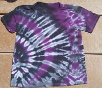 Tie Dye Youth T-Shirt L Purple Smoke Midnight Hanes Free Shipping Cotton kids