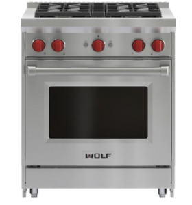 Wolf GR304 36 Inch Freestanding All Gas Range with Natural Gas, 4 Sealed Burners