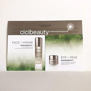 AU NEW BareMinerals Skinlongevity Vital Power Infusion + Eye Gel Cream Sample