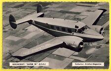 "cpsm AVIATION AVION AMERICAIN AMERICAN AIRCRAFT BEECHCRAFT ""Super 18"" USA"