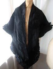 Vintage MAXIMILIAN Shorn Fur Taffeta Trim Stole