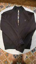 Penguin Munsingwear Navy Jacket Blue Silk Lining Windbreaker Size L