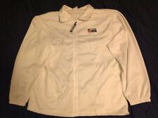 White zipper jacket USA Olympics Embroidery flag & Team USA