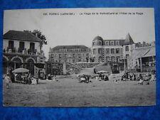 PORNIC  :  Plage de la Noeveilliard et l' Hotel de la Plage.