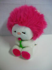 1984 Dakin Fun Farm Frou Frou Plush Stuffed Toy Animal Magenta Pink