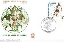 1982-ENVELOPPE ILLUSTRE**FDC 1°JOUR** FOOTBALL-MONACO**TIMBRE Y/T 1312