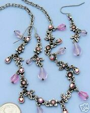 Victorian Style Antique Silver and Pink Set