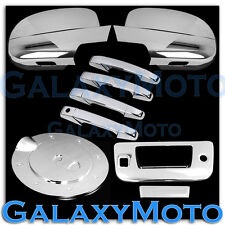 07-13 GMC Sierra Chrome Mirror w/ Light+4 Door Handle+Tailgate+Camera+Gas Cover