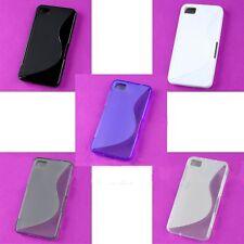 Wholesale Lot Wave Gel Back Case Cover For Blackberry Z10 BB Z 10White Black