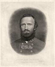 Thomas Stonewall Jackson • Signed,  Engraving executed 1871