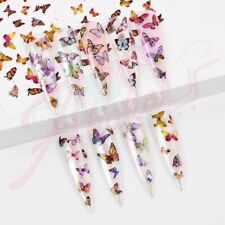 Butterfly Holographic Stickers Nail Decals | Nail Art | 3D Nail Stickers