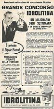 W8916 IDROLITINA - Grande Concorso - Pubblicità del 1958 - Vintage advertising