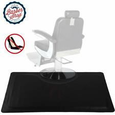 Thick Salon Floor Black Barber Shop Beauty Comfort Mat Rectangle