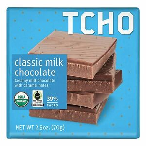 TCHO Classic Milk Chocolate with Caramel Note, 2.5 OZ (Pack of 12)