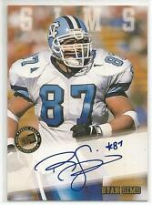 RYAN SIMS CERTIFIED Auto 2002 Press Pass card North Carolina Tar Heels Football