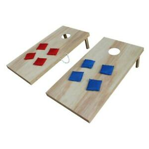 Corn Hole Board 24 in. x 48 in. Storage Compartment Sturdy Frame Brown