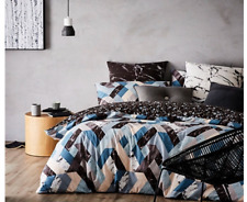 Home Republic Geode Single Quilt Cover Set Teal Bnip Rrp $169.99
