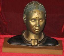 Ancienne Statue Sculpture Femme Africaine signée VERDIER