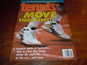 "VINTAGE DECEMBER 1992 "" TENNIS "" MAGAZINE - MOVE THOSE FEET COVER"