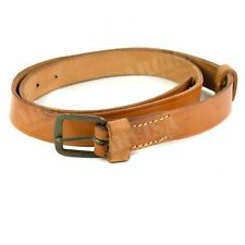 Original Czech army real leather belt. CZ military light brown belt