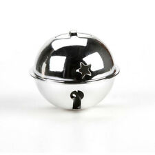 70mm Jumbo Silver Jingle Bell with Star Cutouts for Crafts   Craft Bells