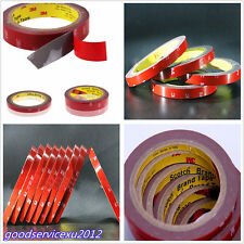 10 Pcs 3m Length Red Car Automobile Double Side Acrylic Foam Adhesive Tape Rolls