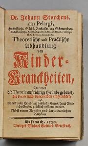 8455008 Storch, Kinderkrankheiten v. 1750 Pelargus Kupferstiche Pädiatrie