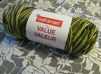 NEW Craft Smart Value Yarn Hunter Brown and Green Medium 141 g Acrylic 1801 18