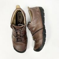 KEEN Women's Delancey Lace Up Brown Leather Hiking Trail Walking Shoes Sz 10